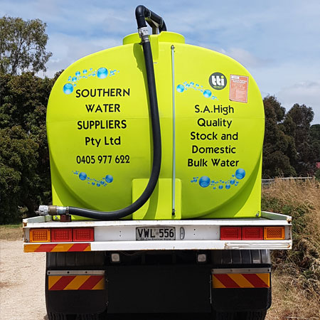 Water Supply Mount Compass, Water Delivery Mount Lofty Ranges SA, Bulk Water Mclaren Vale